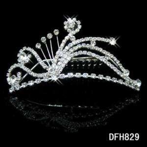 Wedding Bridal crystal tiara crown headband comb 0829