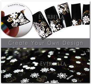 30 sheets 1500+ Nail Art Design Stickers Decal MV001G