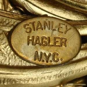 Brooch Pin Large Vintage Stanley Hagler NYC Vivid Colors