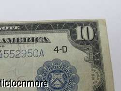 DOLLAR BILL FEDERAL RESERVE NOTE 4 D LARGE NOTE CLEVELAND WHITE