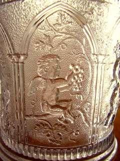 Antique Glass ANGEL Cherub Putti EAPG c1840 Harp RARE Grapes Wine