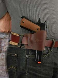 Barsony Brown Leather Yaqui Holster CZ 75 83 85 97 100