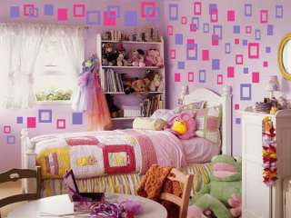 Wall art vinyl stickers decals SQUARES SOLID & EMPTY