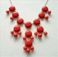NEW N5 Acrylic RED Bubble chain bib Statement necklace