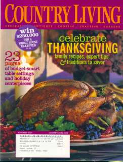 2007 Country Living Magazine: Celebrate Thanksgiving