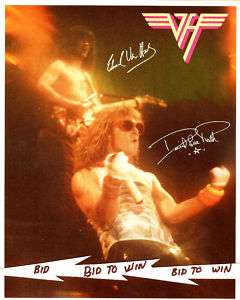 VAN HALEN David Lee Roth & Eddie in Concert 1984 Print