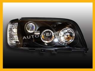 Klarglas Scheinwerfer schwarz Mercedes W202 C Klasse