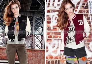 Women Fashion Casual Sport Baseball Jacket Outwear Coat New WCOT088