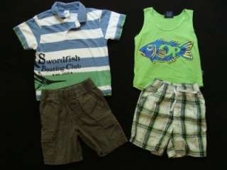 Huge Used Toddler Boy 4T 4 Spring Summer Clothes Outfits Shorts Shirts