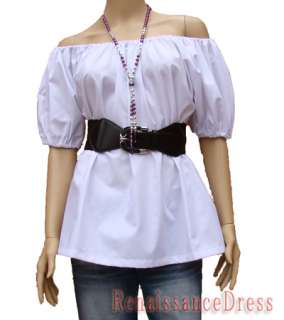 Medieval Renaissance Peasant White Chemise Top Costume