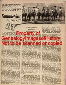 Summering On The XIT Ranch In Texas + Genealogy