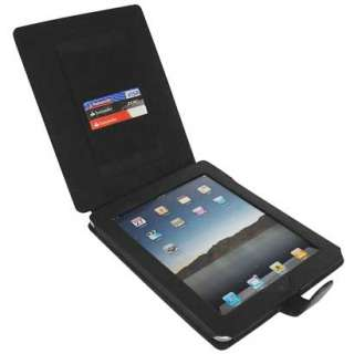 Black Leather Flip Skin Case Cover Stand for Apple iPad 1