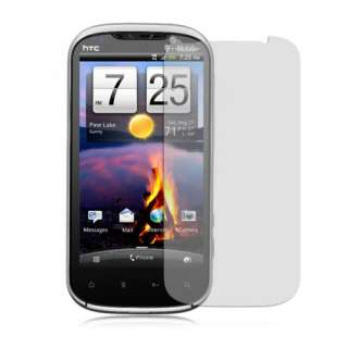 Mobile HTC Amaze 4G Black Rubberized Hard Snap On Case Cover +Screen