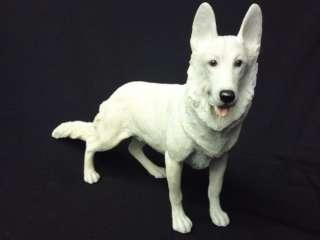 Small White Alsatian Dog Ornament, 6 High, Stunning