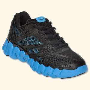 Reebok ZIG TECH ZIGSONIC V64500 Black Blue PS Little Kids Girls Boys