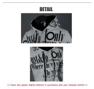 New Mens Casual Slim Fit Zip Up Hooded Hoodies Hoody Jacket Top Black