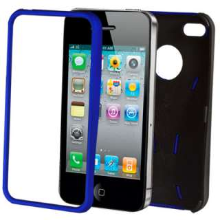 FITS IPHONE 4S & 4 NEW STYLISH DUAL COLOUR SERIES CASE COVER & SCREEN