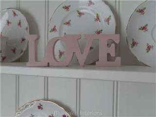 SHABBY DUCK EGG BLUE OR PINK WOOD LOVE LETTERS CHIC