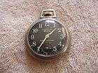 Vintage Westclox Scotty Pocket Watch with Black Face