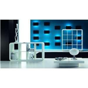 TEMA Rondo Regal / Raumteiler 4x2 weiß mit Füßen  Küche