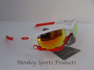 Oakley Racing Jacket 2012   Matte White / Fire Iridium Vented