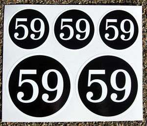 CAFE RACER 59 CLUB logo set stickers decals