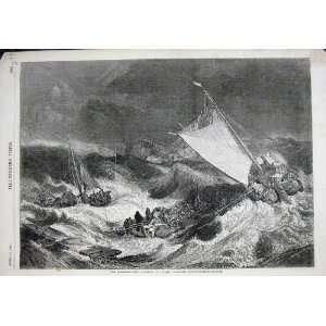 1857 Schiffbruch SeeSturm Segeln NachtSchöne Kunst Turner: .de