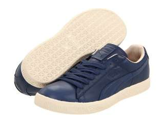 Puma Mens Classic Clyde Luxe Insignia Blue Leather Sneaker 35281404