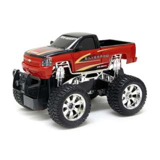 RADIO CONTROLLED CHEVY SILVERADO MONSTER TRUCK KIDS TOY NEW   N50JW