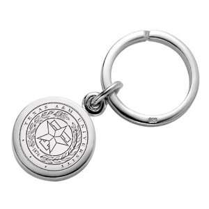 Texas A&M Sterling Silver Insignia Key Ring: Sports & Outdoors