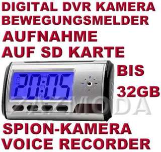 Digital DVR Spion Spy Wecker Kamera Aufnahme auf Karte Bewegungsmelder