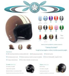 Casco Jet moto harley casque retro motorcycle S M L XL