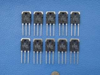 original toshiba high power mos fet 2sj200 1 piece and 2sk1529 1 piece