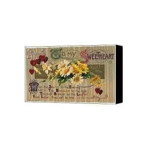 VALENTINES DAY CARD, 1910 Canvas Print / Canvas Art