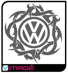VW logo tribal decal sticker graphics camper golf t4 t5