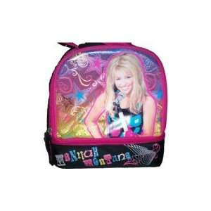 Disney Hannah Montana Girls Black & Pink Dome Lunch Box Tote Bag