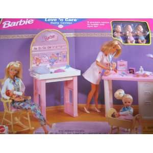 Barbie Love n Care Baby Center Playset w 3 Babies (1997