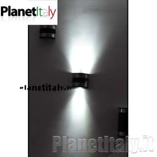 APPLIQUE 3 LED DOPPIA EMISSIONE LUCE LED WALL LIGHT WHITE 3 WATT