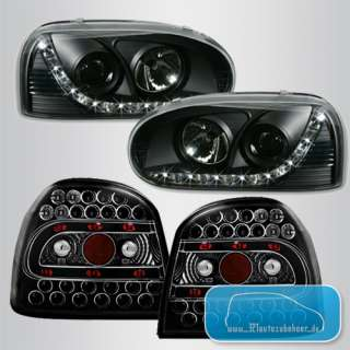 VW Golf III 3 DAYLINE LED Scheinwerfer & LED Rückleuchten TUNING SET