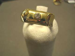 Anello Uomo Oro Giallo Ring Man Gold Zircone 6,20 gr