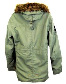 ALPHA INDUSTRIES HOODED FISHTAIL WOMENS OLIVE GREEN PARKA JACKET NEW