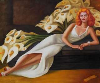 handmade oil painting diego rivera portrait of natasha description
