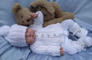 KNITTING PATTERN TO MAKE DUMPLINGS BABY / REBORN DOLL CARDIGAN AND