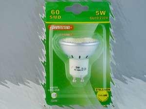 LAMPADA FARETTO 60 LED CALDA 270 LUMEN GU10 5 WATT 50W