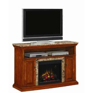 Home Julian 48 TV Stand with Electric Fireplace in Ivory   DTO9340F