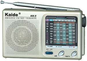 COMPACT NEW KAIDE KK9 SMALL POCKET RADIO TV FM AM SW