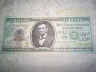 MILLION DOLLAR BILL NOVELTY/PLAY MONEY *MINT* ABRAHAM LINCOLN