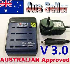 Soshine 18650 AU S1 max III (Ver 3) Rapid Charger for 1   4 Lithium
