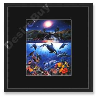16x16 Christian Riese Lassen, Rainbow Sea, FRAMED   Seascape