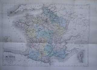 SUPERBE CARTE de FRANCE très grand format en couleur